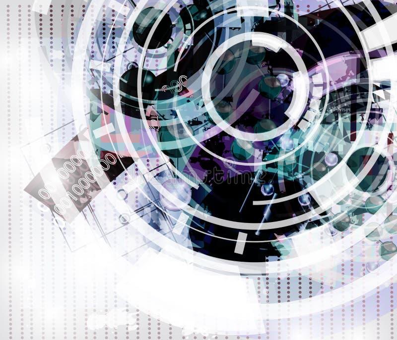 Abstrakter Hintergrund der Hightech lizenzfreie abbildung