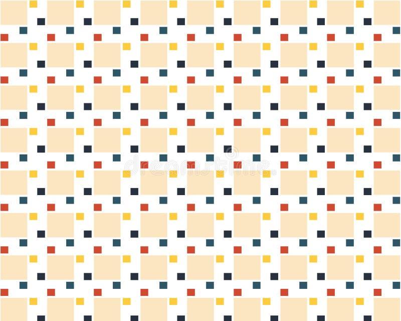 Abstrakter Hintergrund, der Muster von geometrischen Formen wiederholt stock abbildung