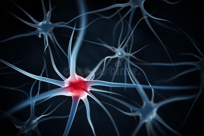 Abstrakter Hintergrund der Neuronen stock abbildung