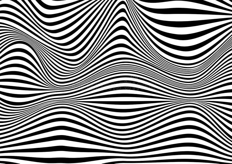 Abstrakter Hintergrund der optischen T?uschung lizenzfreie abbildung