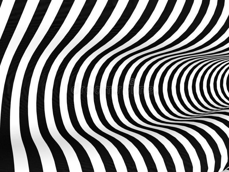Abstrakter Hintergrund der Schwarzweiss-Streifen stock abbildung