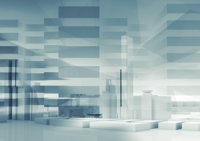 Abstrakter Hintergrund der Stadt 3d cityscape vektor abbildung