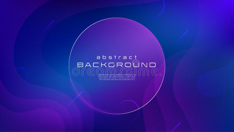 Abstrakter Hintergrund der Steigung flüssige blaue purpurrote Farb Flüssigkeit formt futuristisches Konzept Kreative Bewegung geo stock abbildung