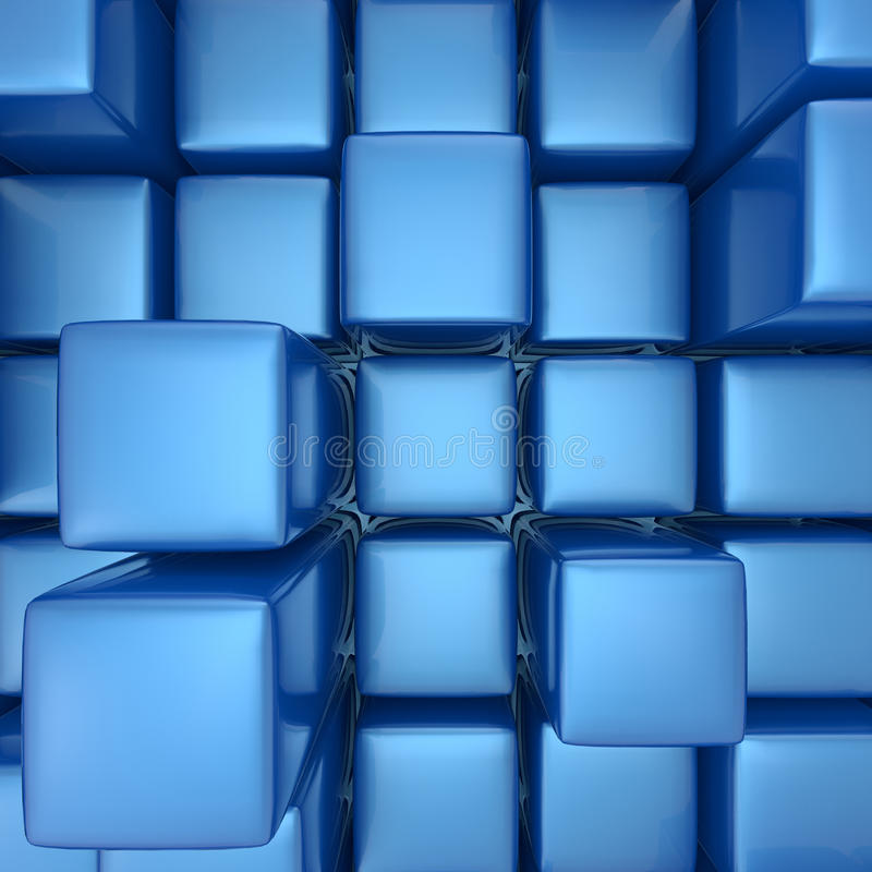 Abstrakter Hintergrund der Würfel lizenzfreies stockfoto