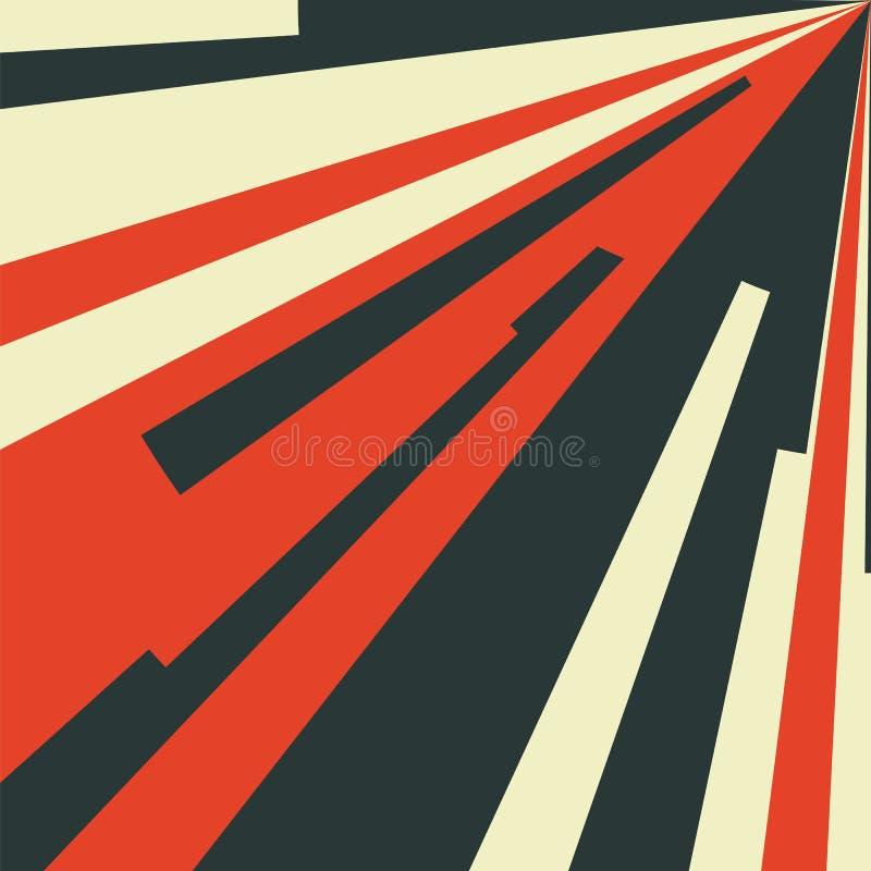 Abstrakter Hintergrund der Weinlese mit Radialstrahlen Vektor Illustratio vektor abbildung
