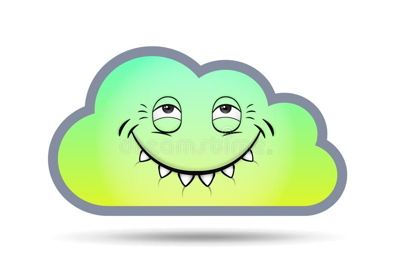 Abstrakter Hintergrund der Wolkentechnologie in der Zukunft, Vektorillustration lizenzfreie abbildung