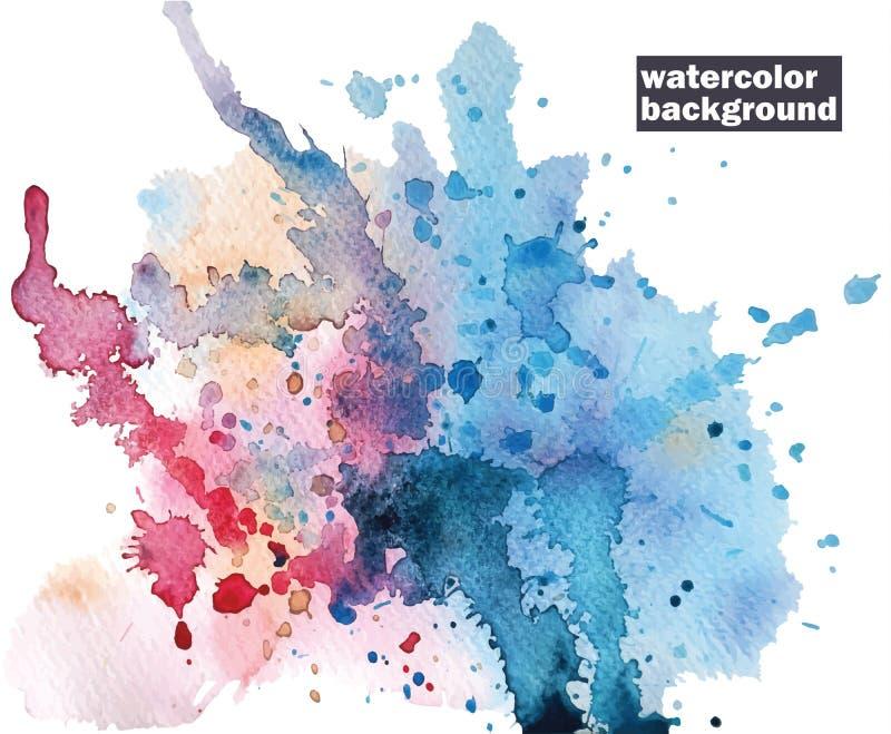 Abstrakter Hintergrund des Aquarells Abstrakter Hintergrund von verschiedenen Farben lizenzfreie abbildung