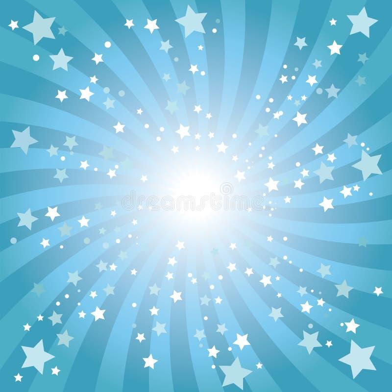 Abstrakter Hintergrund des blauen Sternes vektor abbildung