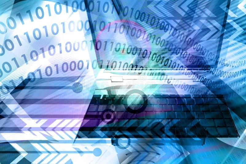 Abstrakter Hintergrund des Computers - Blau lizenzfreie abbildung