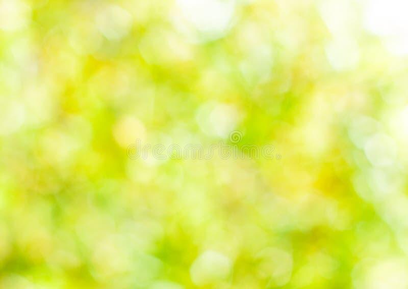 Abstrakter Hintergrund des Frühlinges, unscharfes Sonne leicht- bokeh lizenzfreies stockbild