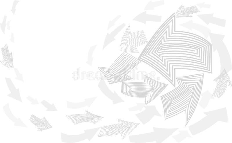 Abstrakter Hintergrund des grauen Weiß Pfeilzeigerbewegung herauf neutrale Schablone Erfolgsgeschäftskonzept-Abdeckungsvektor vektor abbildung