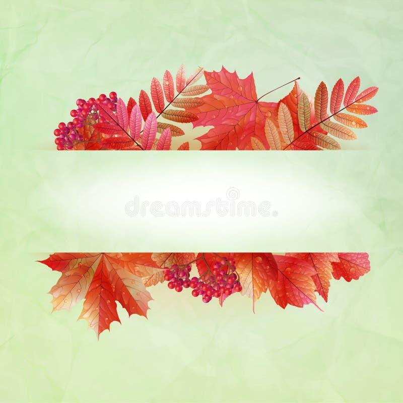 Abstrakter Hintergrund des Herbstes mit bunten Blättern vektor abbildung