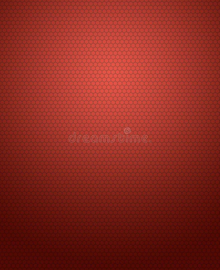 Abstrakter Hintergrund des Hexagonmusters auf roter Steigung stockfotos
