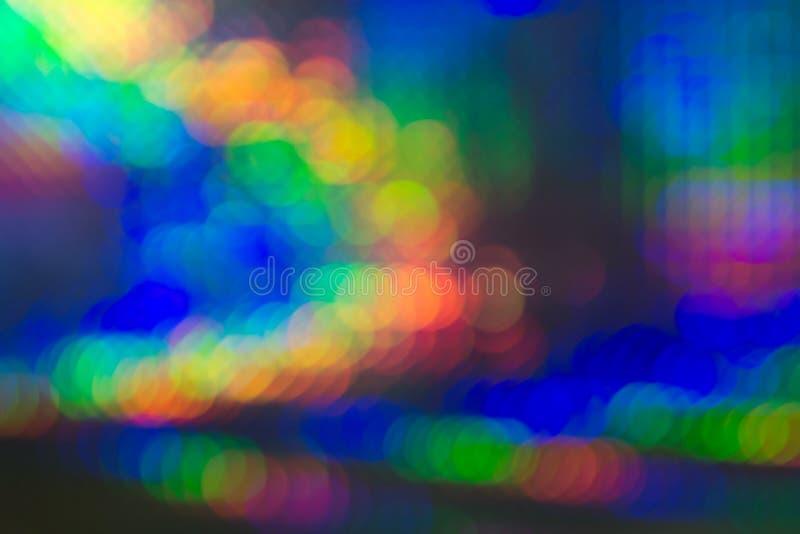 Abstrakter Hintergrund des klaren bunten bokeh lizenzfreie stockfotos