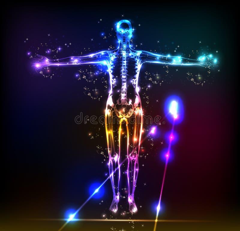 Abstrakter Hintergrund des menschlichen Körpers lizenzfreie abbildung
