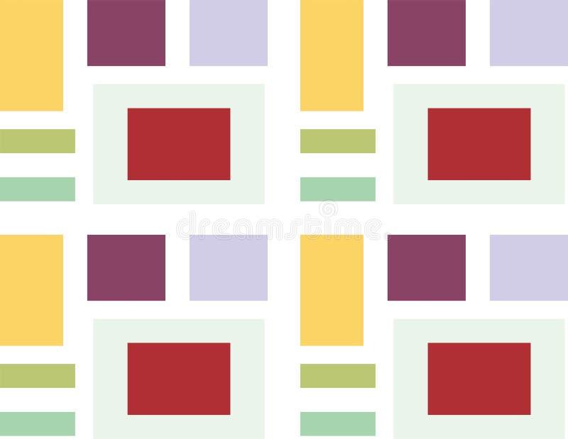 Abstrakter Hintergrund des Quadrats 3d, bunte Fliesen, geometrisch, Vektor stock abbildung