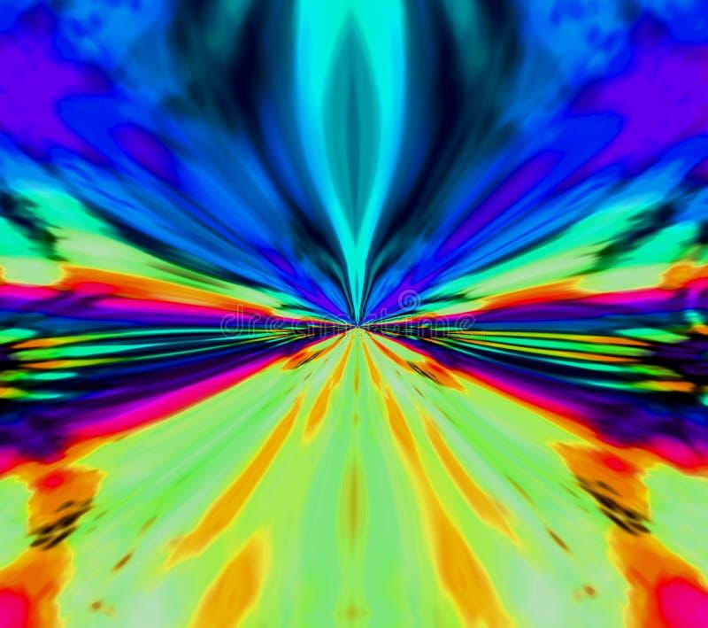 Abstrakter Hintergrund des Sports Farb Straße drehzahl bewegung Neonstrahlen lizenzfreie abbildung