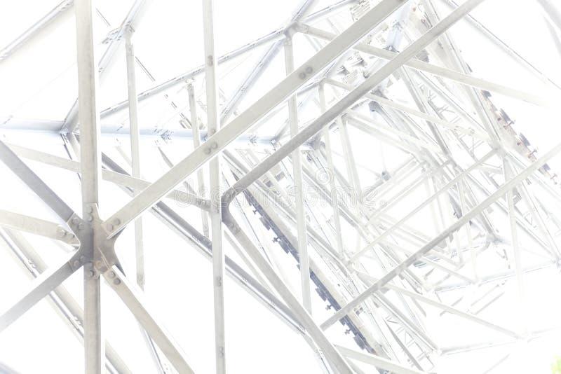 Abstrakter Hintergrund des Stahlgerüsts lizenzfreie stockfotos