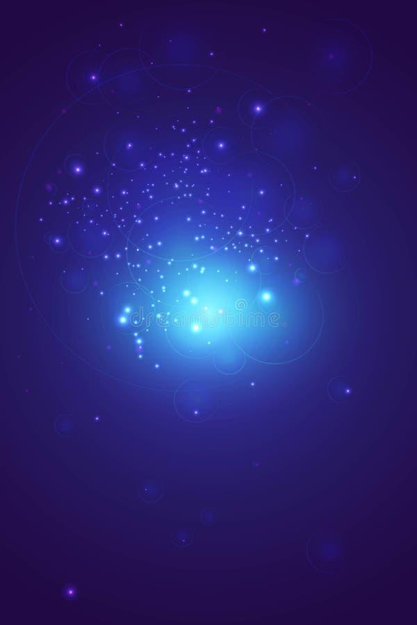 Abstrakter Hintergrund des Vektors in den blauen Tönen lizenzfreie stockbilder