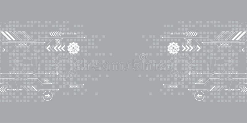 Abstrakter Hintergrund des Vektors zeigt die Innovation der Technologie und der Technologiekonzepte vektor abbildung
