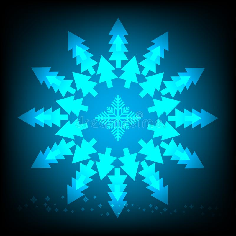 Abstrakter Hintergrund des Weihnachtsbaums lizenzfreie abbildung
