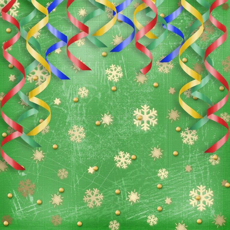 Abstrakter Hintergrund des Winters mit Schneeflocken vektor abbildung