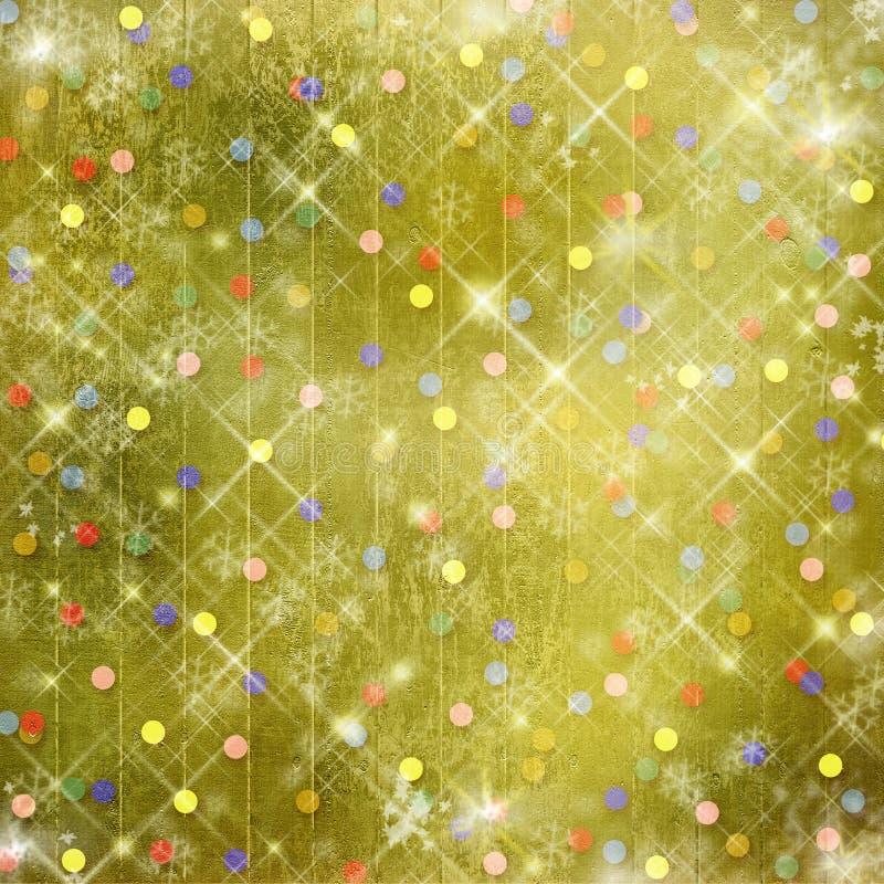 Abstrakter Hintergrund des Winters, Weihnachtssterne vektor abbildung