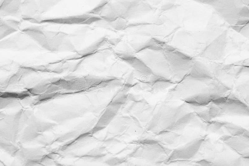 Abstrakter Hintergrund des zerknitterten Weißbuches lizenzfreie stockfotos