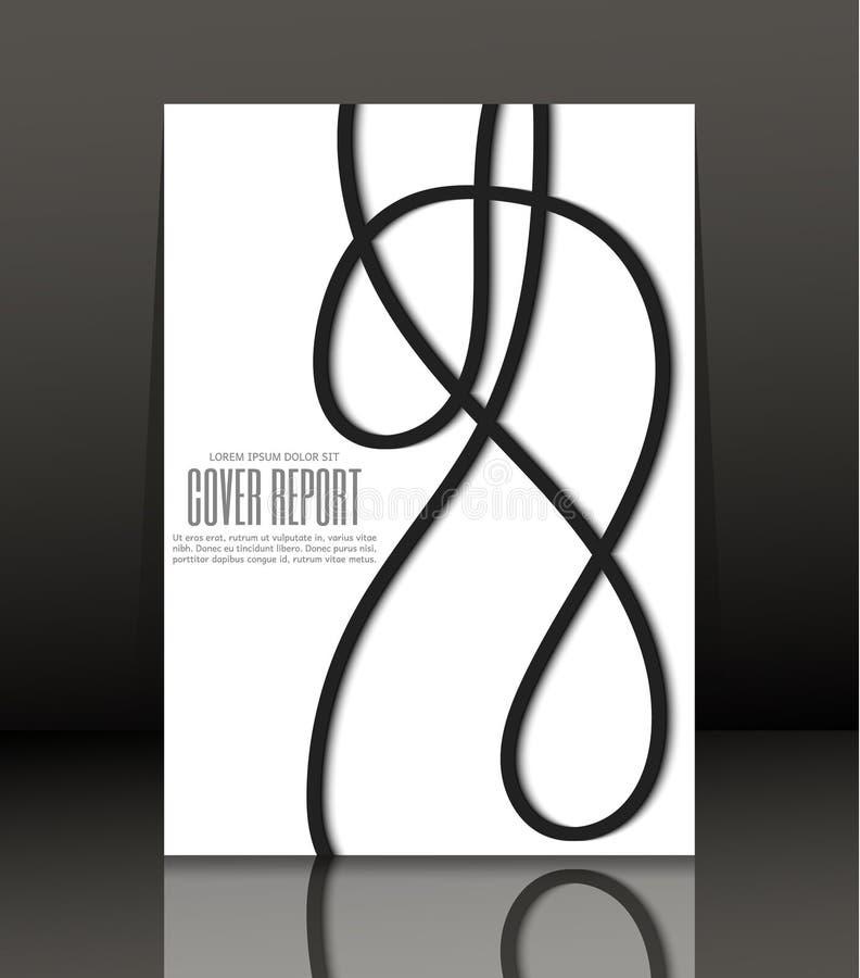 Abstrakter Hintergrund für Broschüre, Abdeckung Schablone für das Plakat Vektor stock abbildung