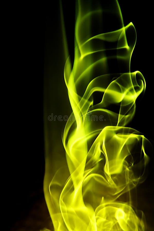 Abstrakter Hintergrund - gelbe Feuerform stockfoto