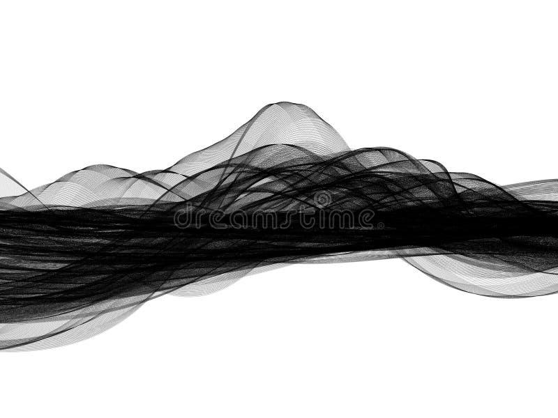Abstrakter Hintergrund gemacht auf weißer Basis lizenzfreie abbildung