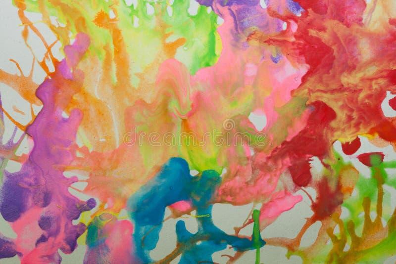 Abstrakter Hintergrund gemacht durch Wasserfarbe lizenzfreie abbildung