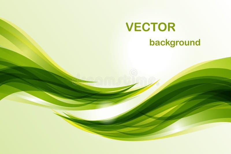 Abstrakter Hintergrund - grüne Welle stockfotos