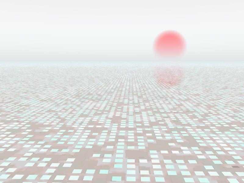 Abstrakter Hintergrund-Horizont lizenzfreie abbildung