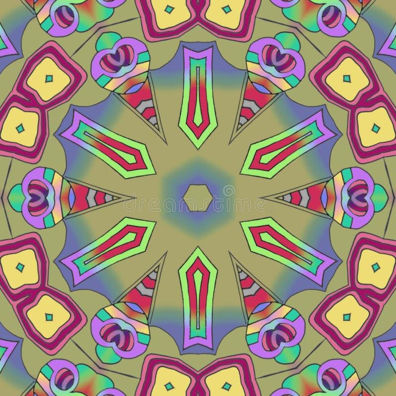 Abstrakter Hintergrund machte Kreise und Farbformen stock abbildung