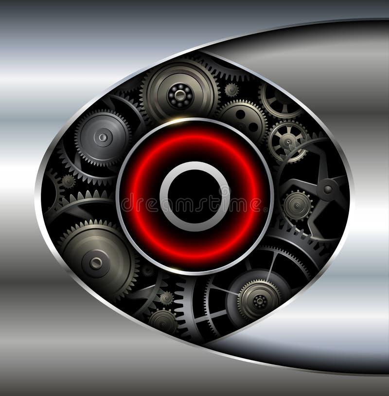 Abstrakter Hintergrund metallisch vektor abbildung