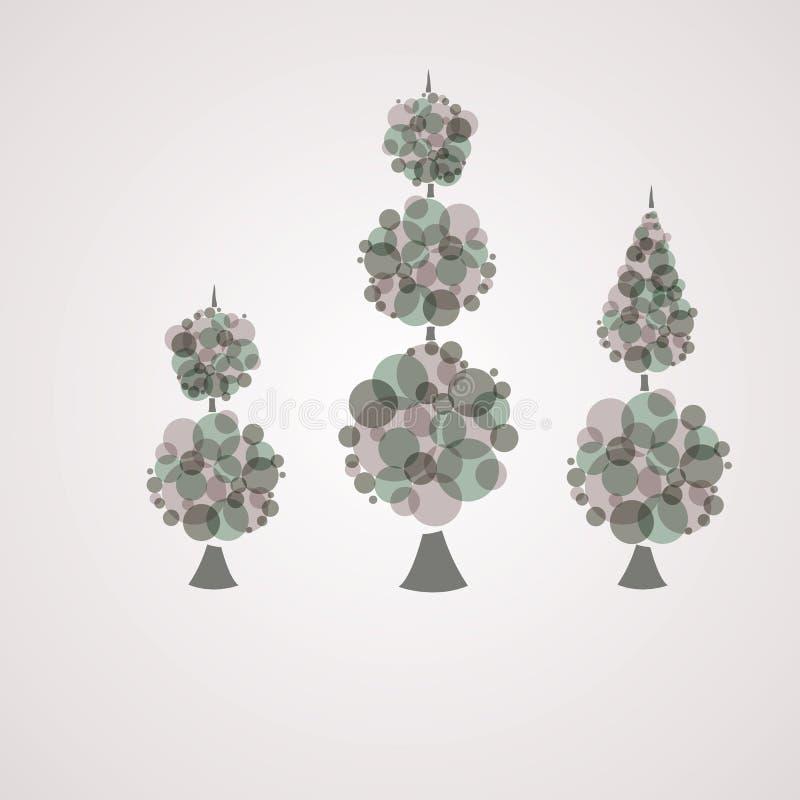 Abstrakter Hintergrund mit Baumgrün. lizenzfreie abbildung