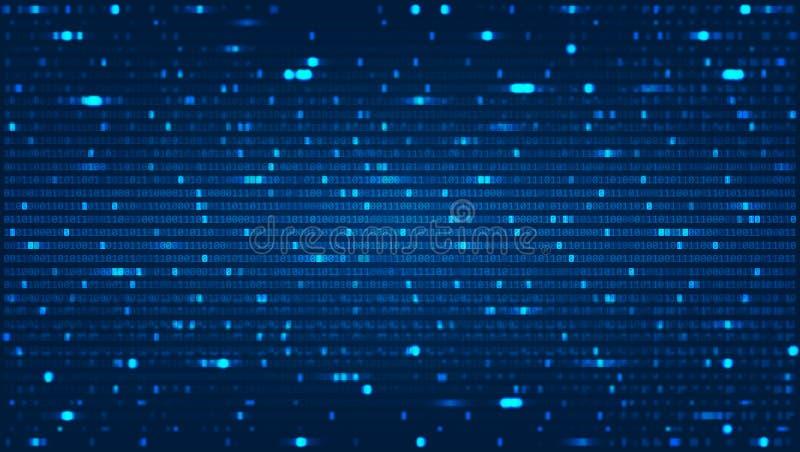 Abstrakter Hintergrund mit binärem Computercode lizenzfreie abbildung