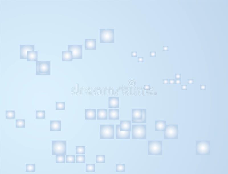 Abstrakter Hintergrund mit blauen Farbtönen stock abbildung
