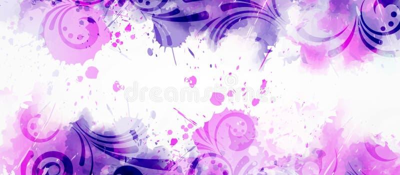 Abstrakter Hintergrund mit Blumenstrudeln vektor abbildung