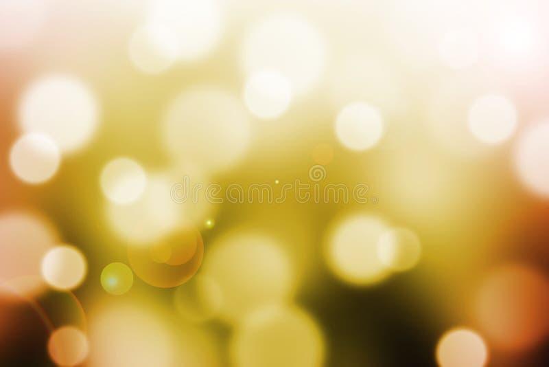 Abstrakter Hintergrund mit bokeh und Blendenfleck lizenzfreie abbildung