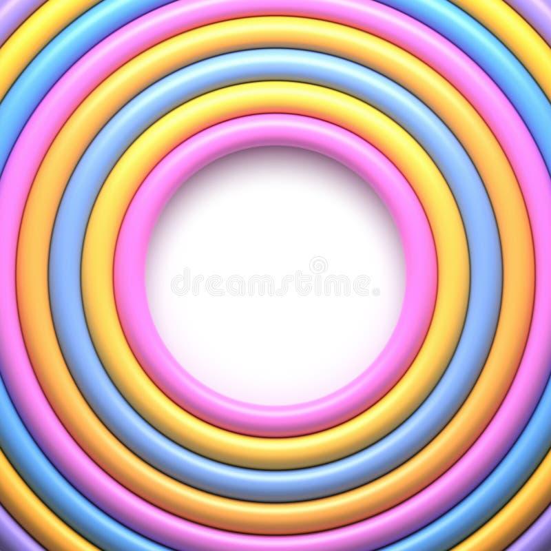 Abstrakter Hintergrund mit bunten glatten Ringen vektor abbildung