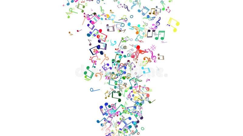 Abstrakter Hintergrund Mit Bunten Musikanmerkungen Stock Abbildung ...