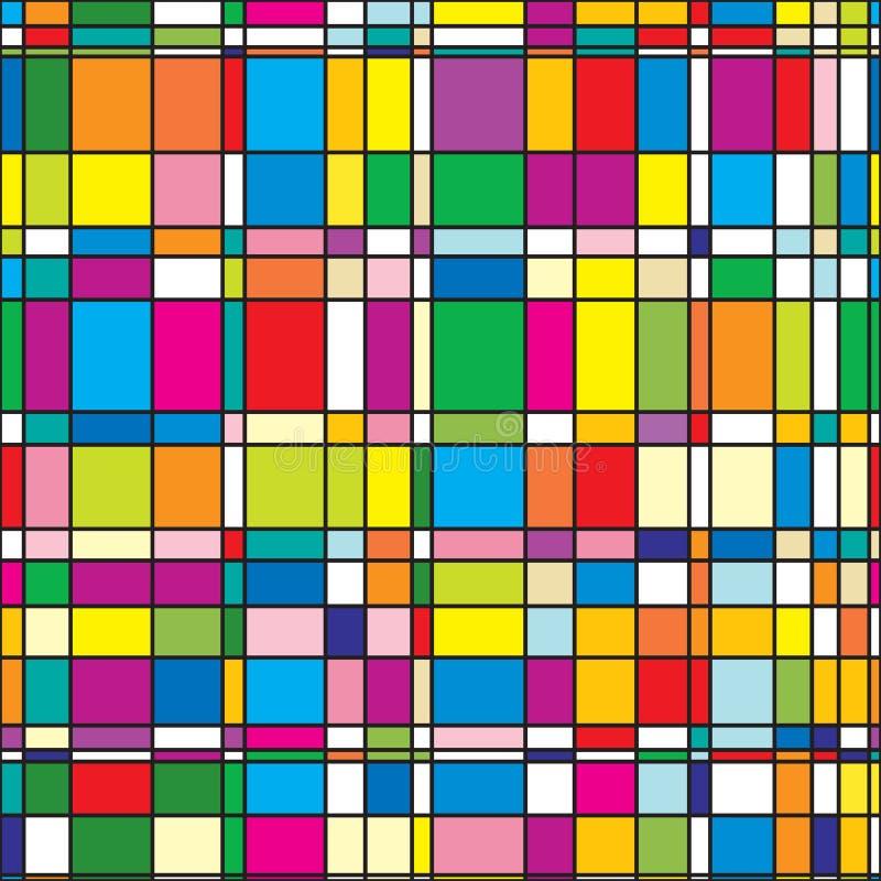 Abstrakter Hintergrund mit bunten quadratischen Fliesen vektor abbildung