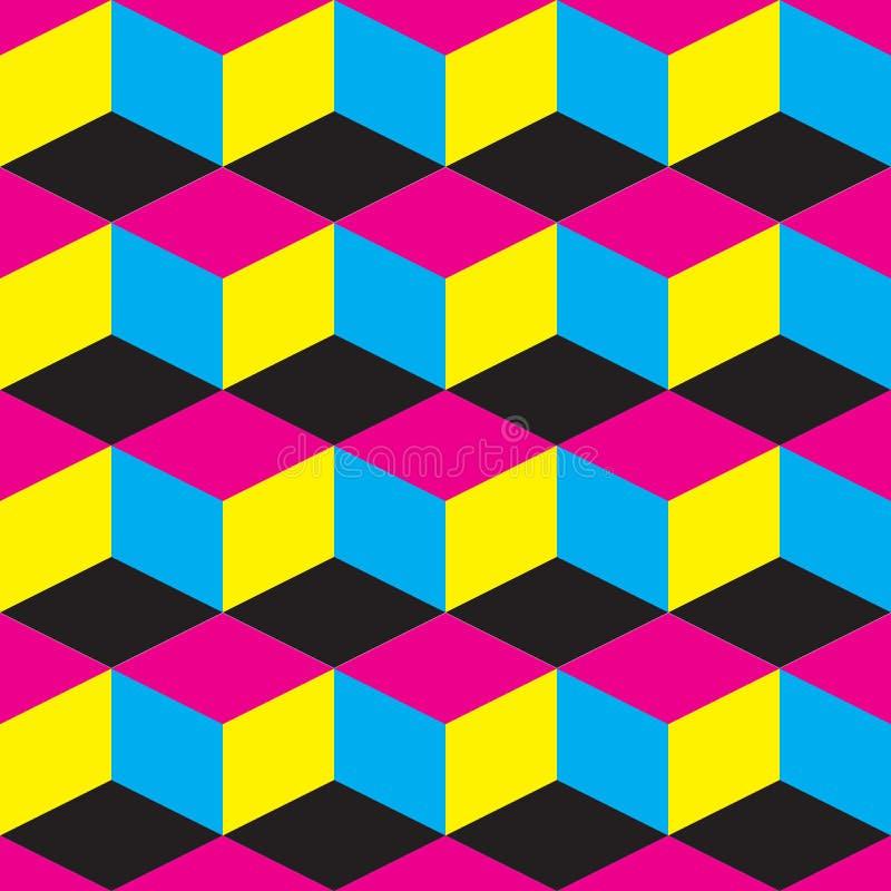 Abstrakter Hintergrund mit CMYK-Motiv lizenzfreie abbildung