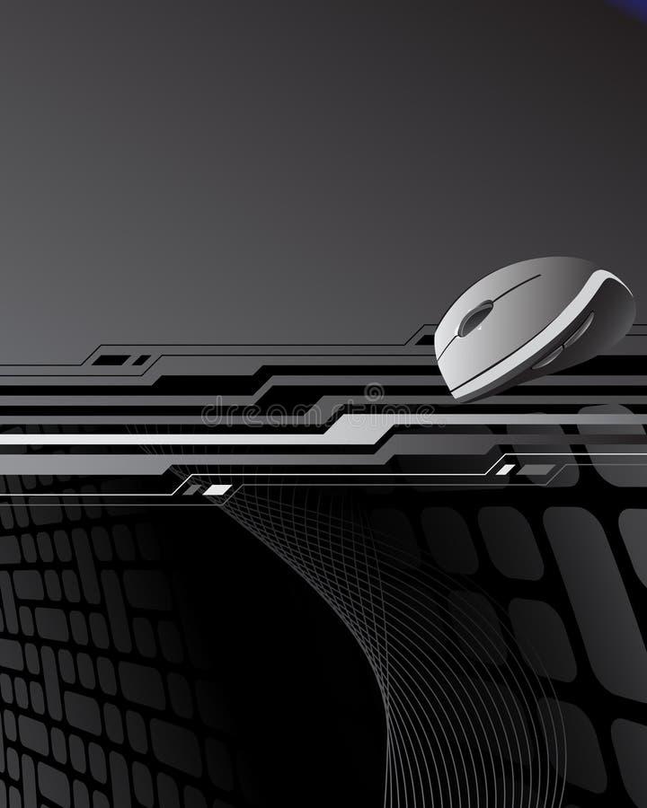 Abstrakter Hintergrund mit Computermaus vektor abbildung