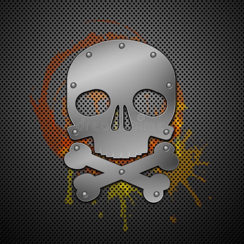 Abstrakter Hintergrund mit dem Schädel. vektor abbildung
