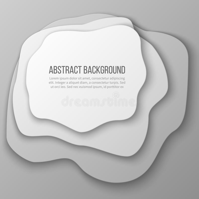 Abstrakter Hintergrund mit dem Weißbuchschnitt überlagert vektor abbildung