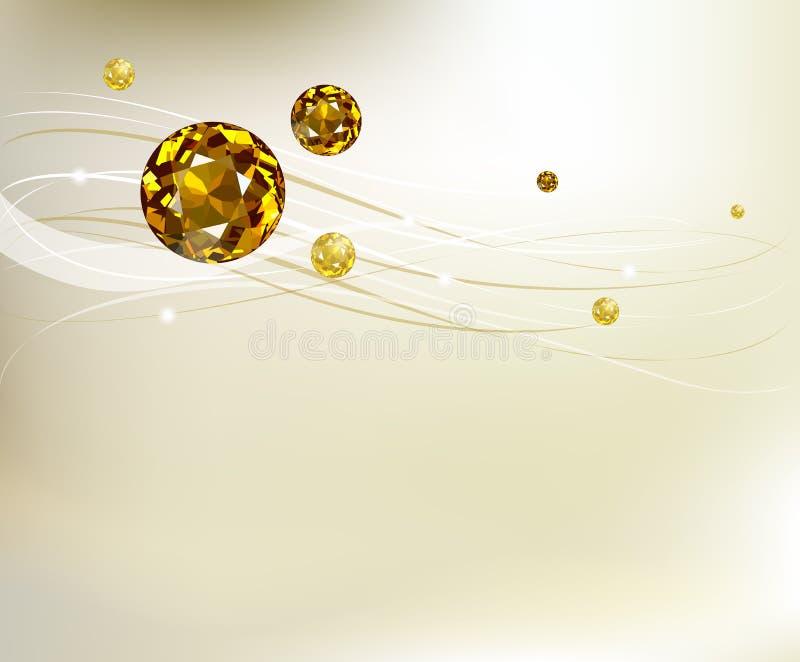 Abstrakter Hintergrund mit Diamanten vektor abbildung