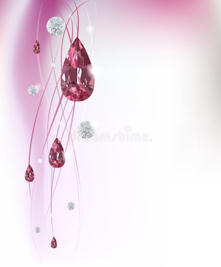 Abstrakter Hintergrund mit Diamanten lizenzfreie abbildung